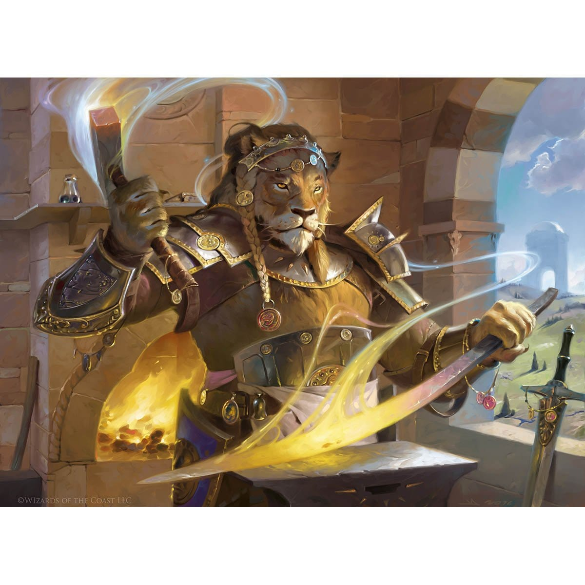 Nazahn, Revered Blacksmith Print - Print - Original Magic Art - Accessories for Magic the Gathering and other card games