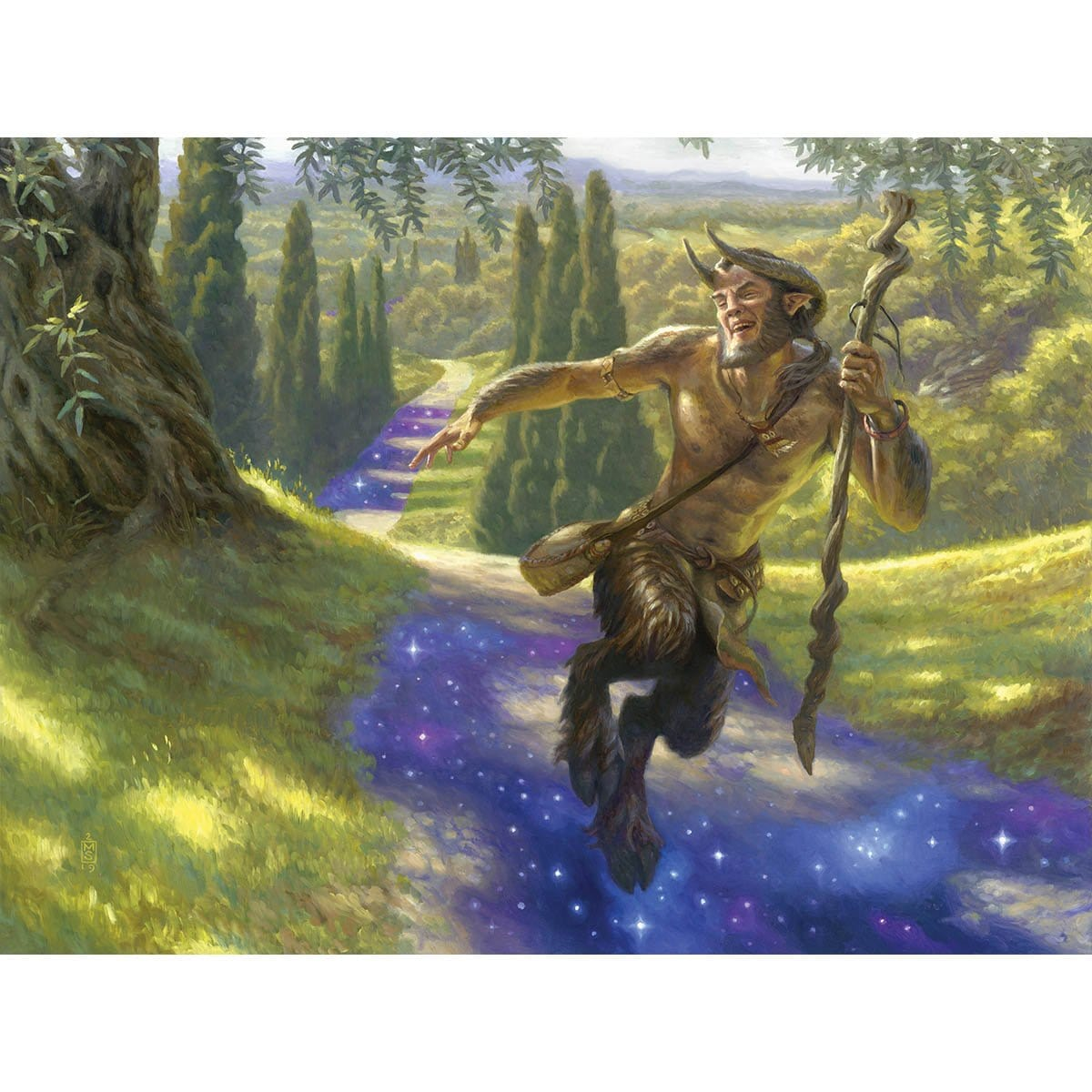 Nessian Wanderer Print - Print - Original Magic Art - Accessories for Magic the Gathering and other card games