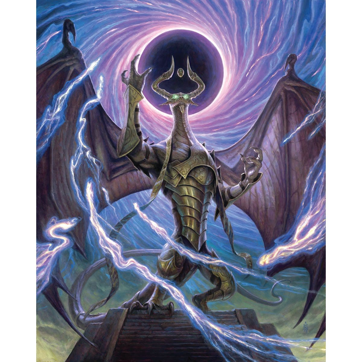 Nicol Bolas, Dragon-God Print - Print - Original Magic Art - Accessories for Magic the Gathering and other card games