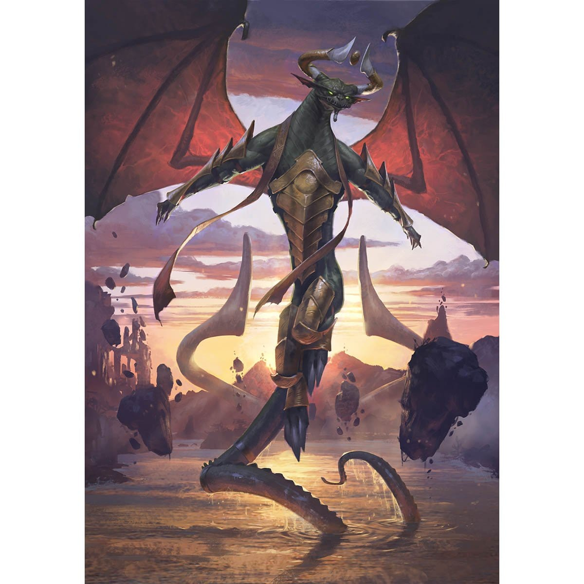 Nicol Bolas, Planeswalker Print - Print - Original Magic Art - Accessories for Magic the Gathering and other card games