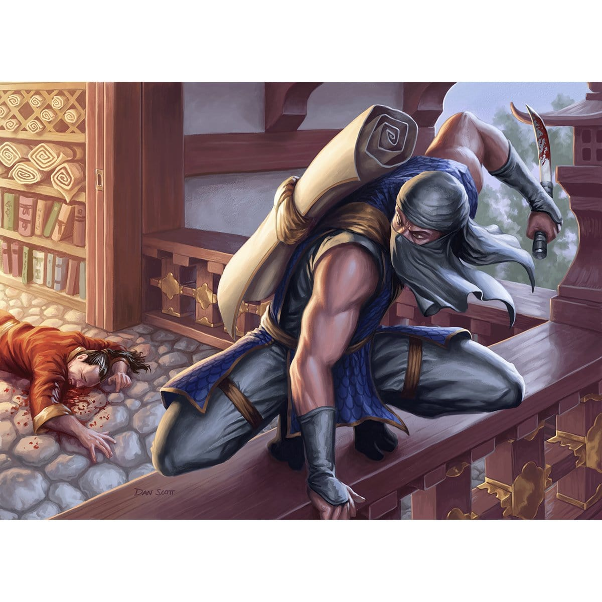 Ninja of the Deep Hours Print - Print - Original Magic Art - Accessories for Magic the Gathering and other card games