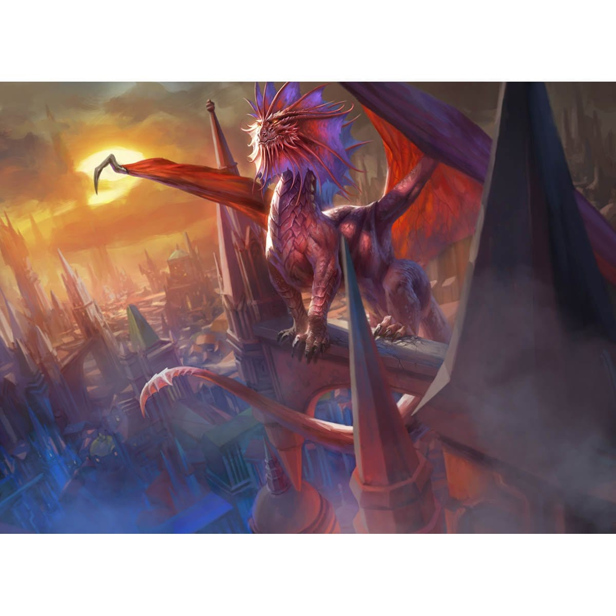 Niv-Mizzet, the Firemind Print - Print - Original Magic Art - Accessories for Magic the Gathering and other card games