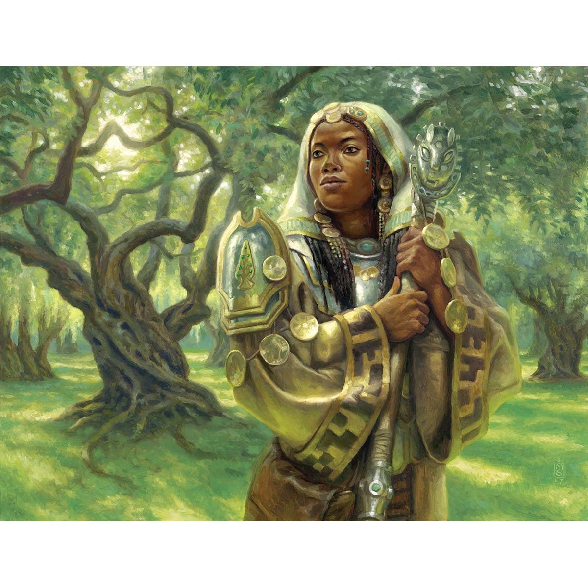 Noble Hierarch Print - Print - Original Magic Art - Accessories for Magic the Gathering and other card games