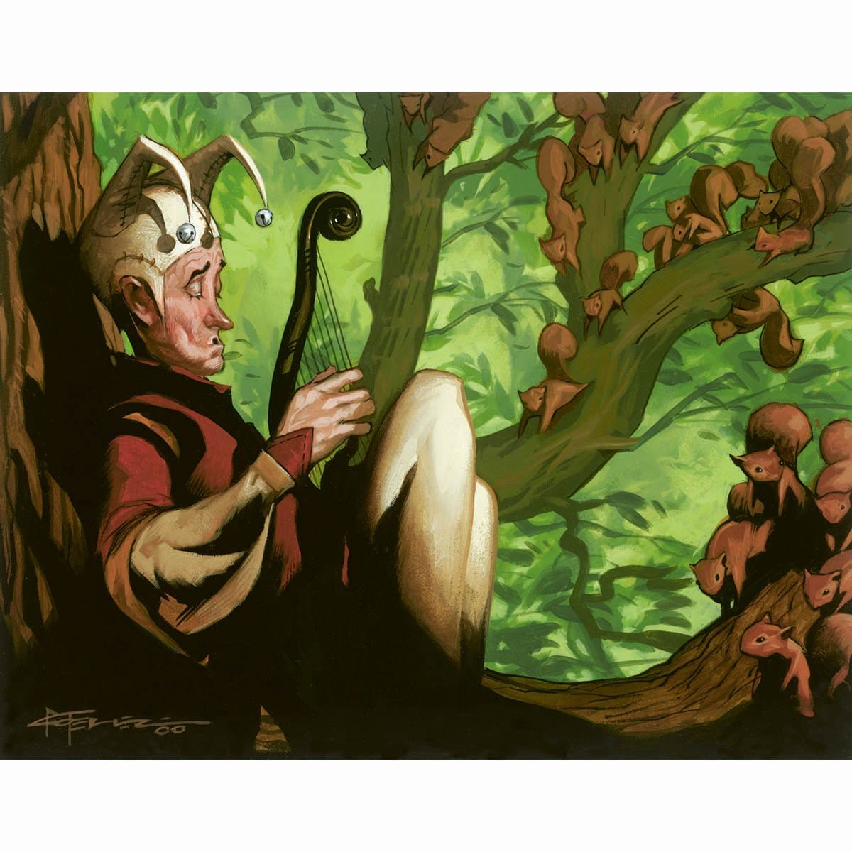 Nut Collector Print - Print - Original Magic Art - Accessories for Magic the Gathering and other card games