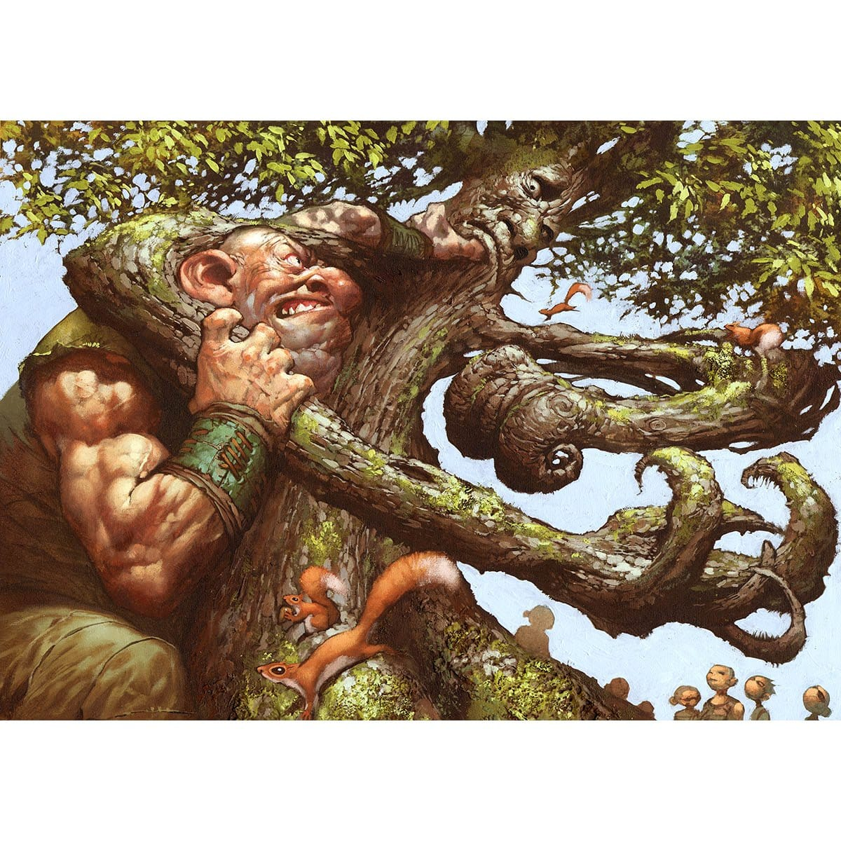 Oaken Brawler Print - Print - Original Magic Art - Accessories for Magic the Gathering and other card games