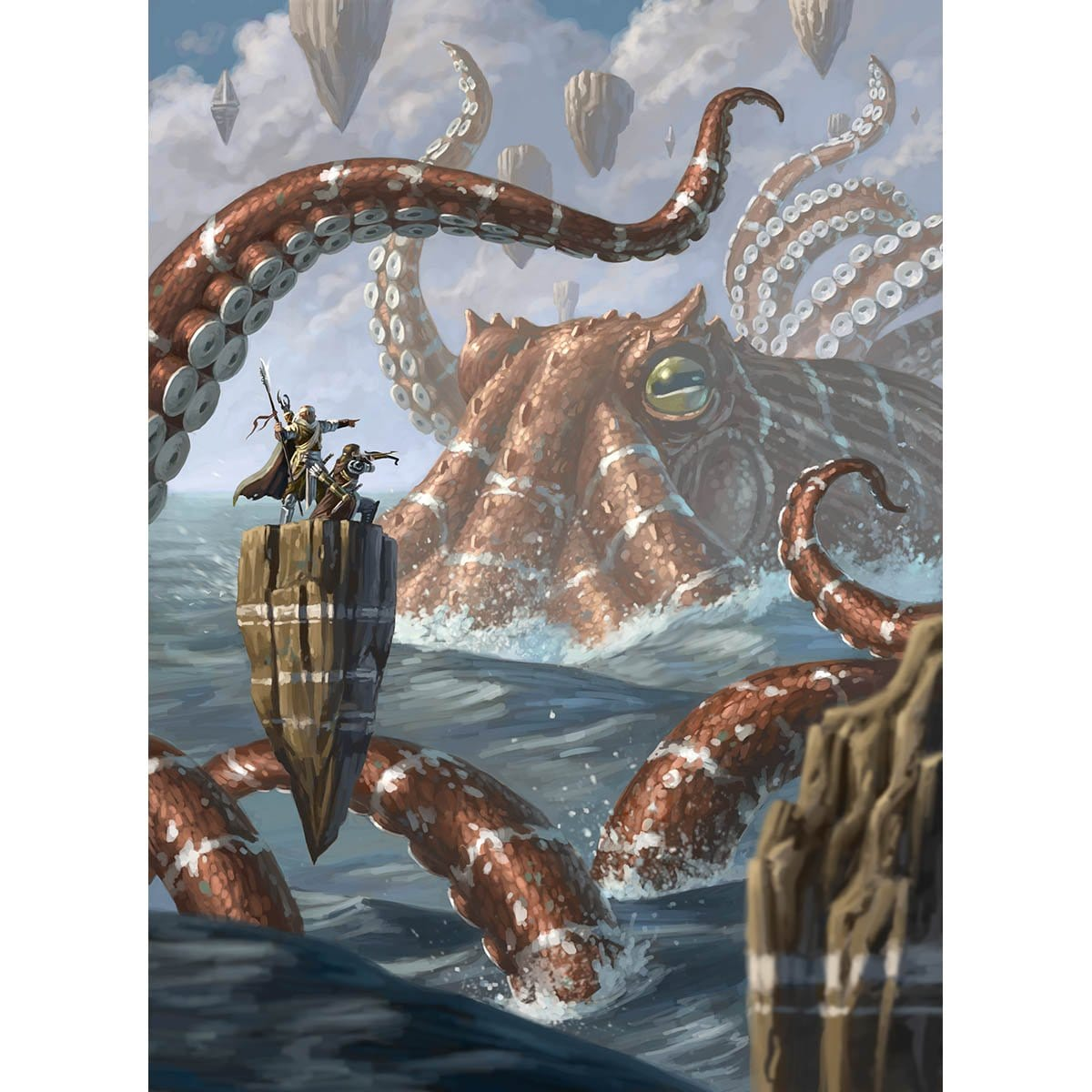 Octopus Token Print - Print - Original Magic Art - Accessories for Magic the Gathering and other card games