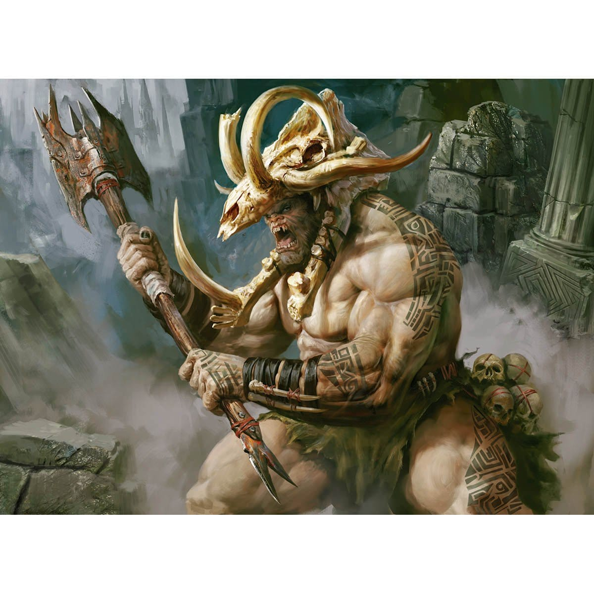 Ogre Painbringer Print - Print - Original Magic Art - Accessories for Magic the Gathering and other card games