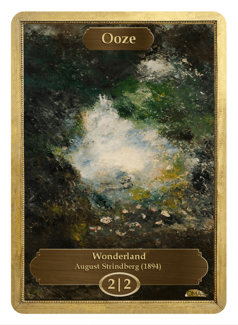 Ooze Token (2/2) by August Strindberg - Token - Original Magic Art - Accessories for Magic the Gathering and other card games
