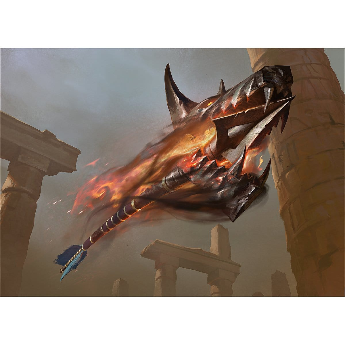 Open Fire Print - Print - Original Magic Art - Accessories for Magic the Gathering and other card games