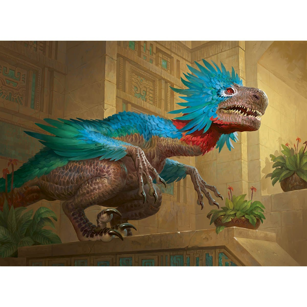 Orazca Raptor Print - Print - Original Magic Art - Accessories for Magic the Gathering and other card games