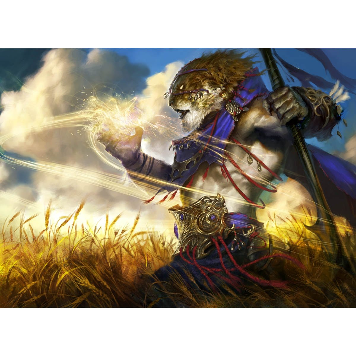 Oreskos Sun Guide Print - Print - Original Magic Art - Accessories for Magic the Gathering and other card games