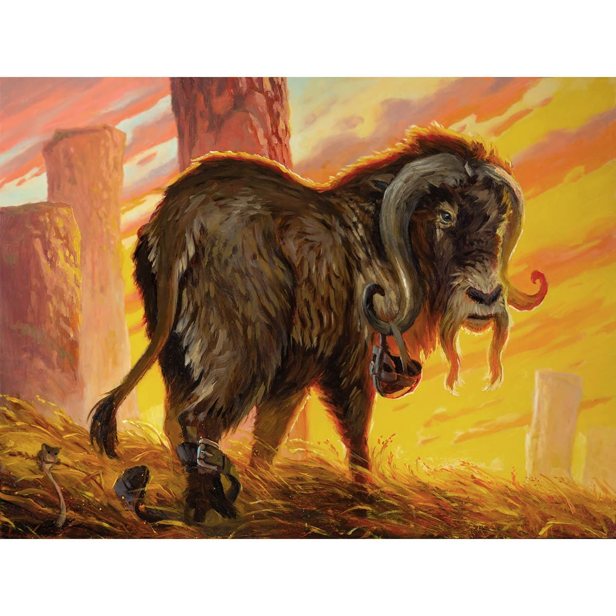 Ox Token Print - Print - Original Magic Art - Accessories for Magic the Gathering and other card games