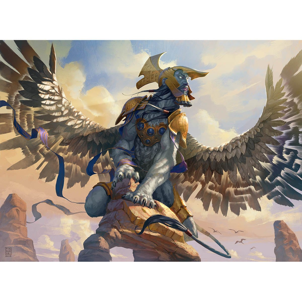 Sphinx Mindbreaker Print - Print - Original Magic Art - Accessories for Magic the Gathering and other card games
