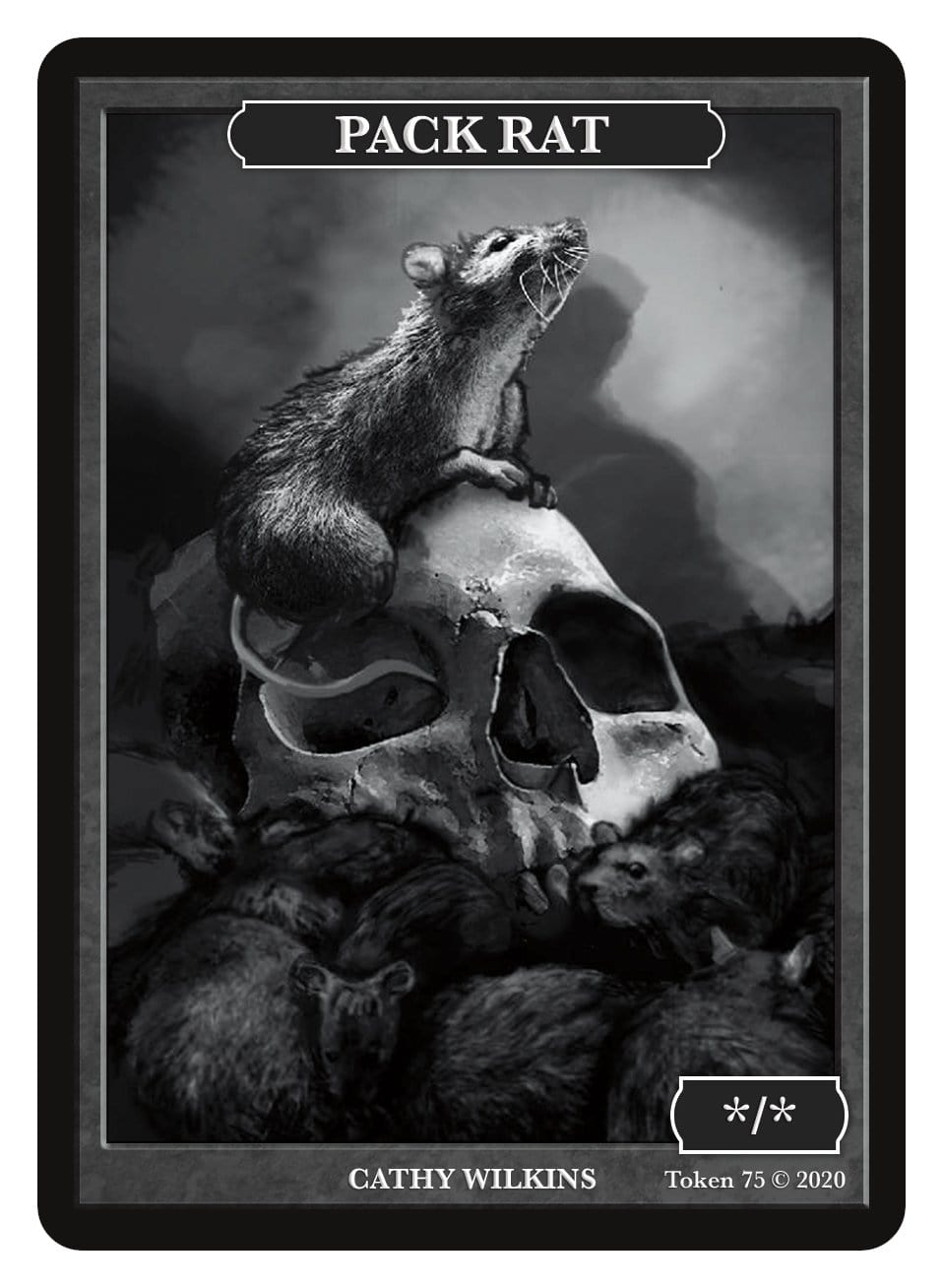 Pack Rat Token (*/*) by Cathy Wilkins