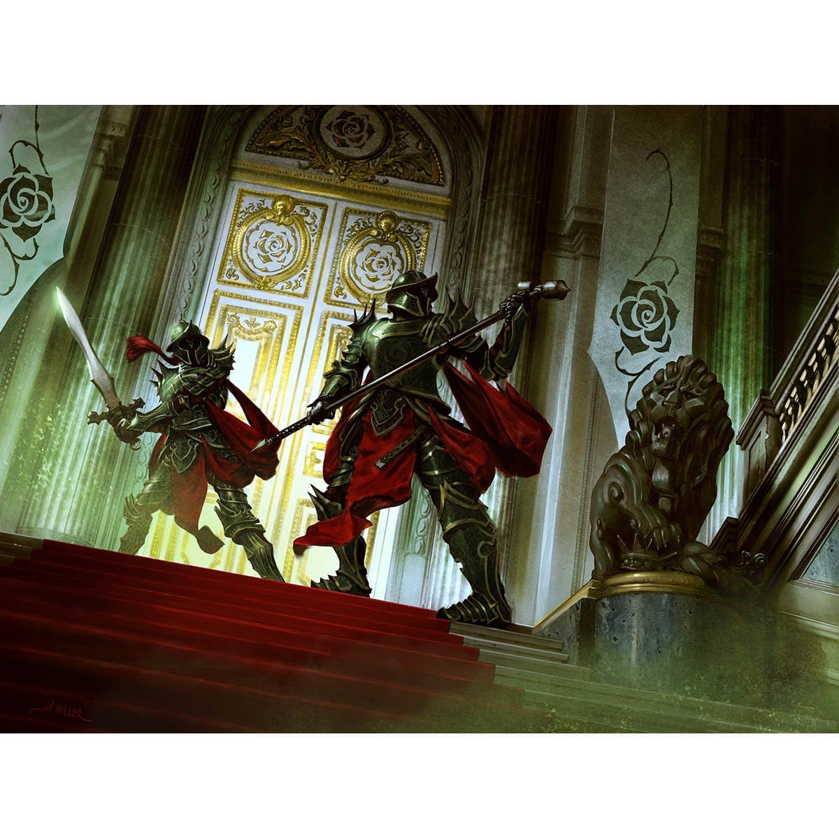 Palace Sentinels Print - Print - Original Magic Art - Accessories for Magic the Gathering and other card games