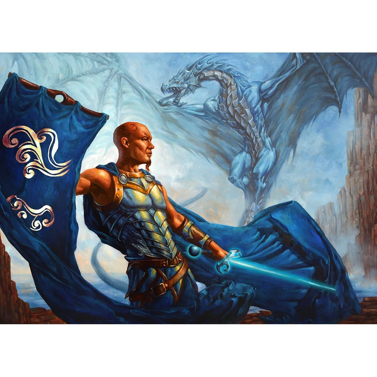 Paragon of the Gathering Mists Print - Print - Original Magic Art - Accessories for Magic the Gathering and other card games