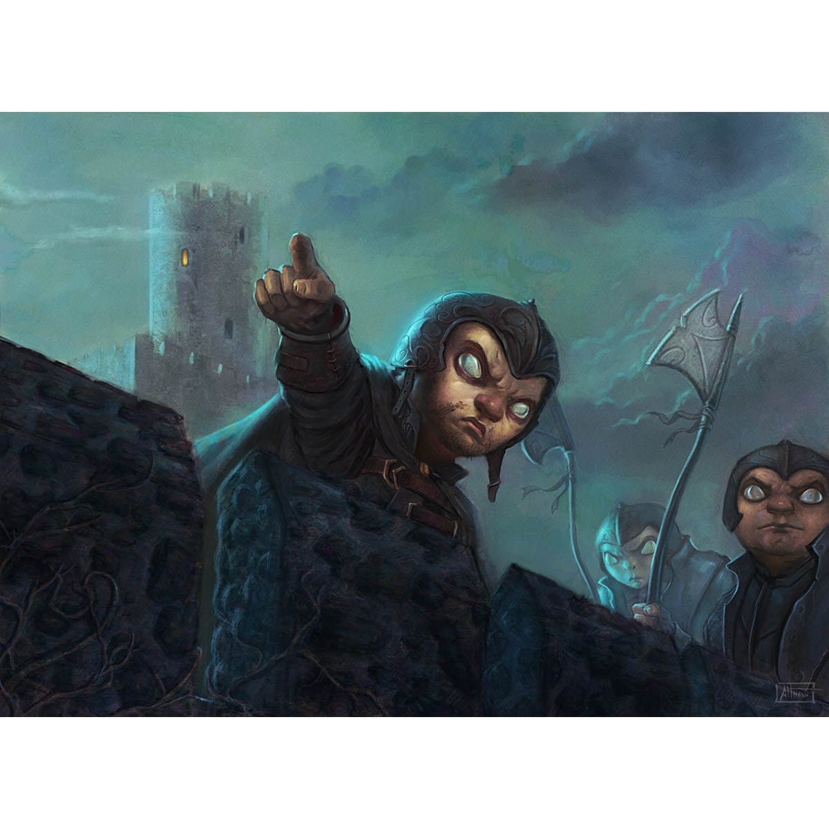 Parapet Watchers Print - Print - Original Magic Art - Accessories for Magic the Gathering and other card games
