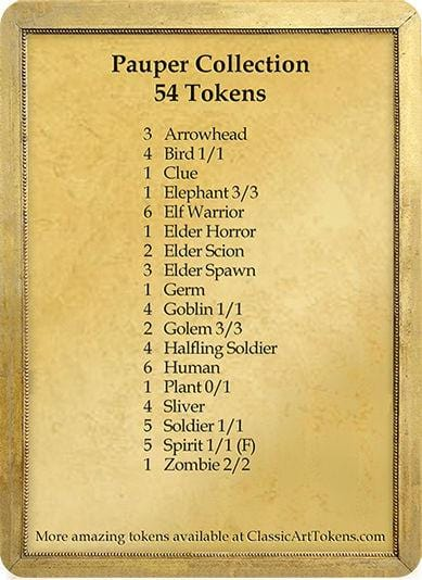 Pauper Token Collection