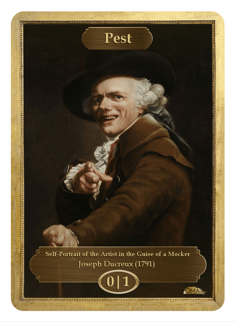 Pest Token (0/1) by Joseph Ducreux - Token - Original Magic Art - Accessories for Magic the Gathering and other card games