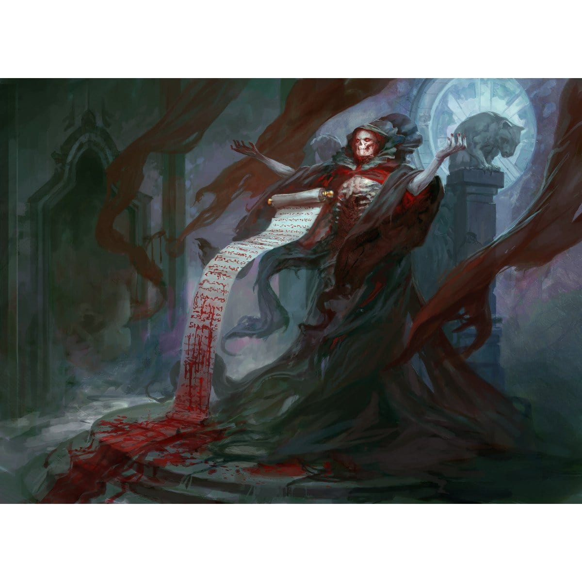 Blood Scrivener Print - Print - Original Magic Art - Accessories for Magic the Gathering and other card games