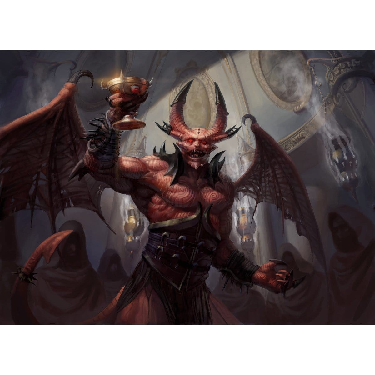 Bloodgift Demon Print - Print - Original Magic Art - Accessories for Magic the Gathering and other card games