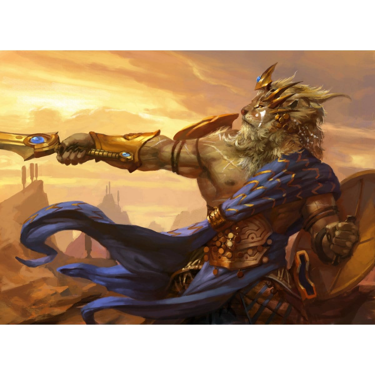 Brimaz, King of Oreskos Print - Print - Original Magic Art - Accessories for Magic the Gathering and other card games