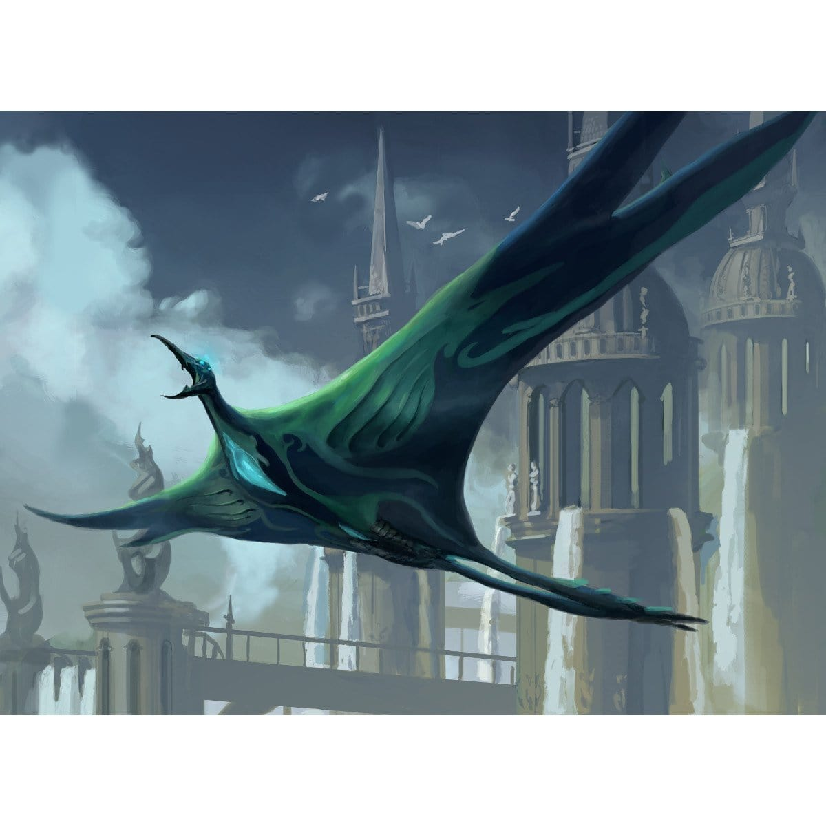 Cloudfin Raptor Print - Print - Original Magic Art - Accessories for Magic the Gathering and other card games