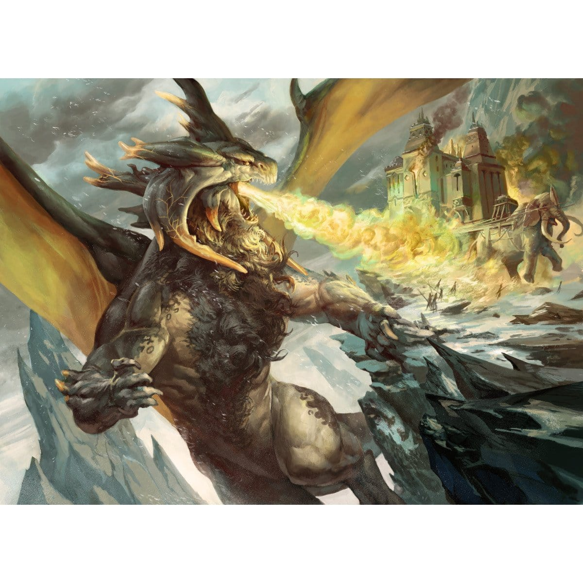 Destructor Dragon Print - Print - Original Magic Art - Accessories for Magic the Gathering and other card games