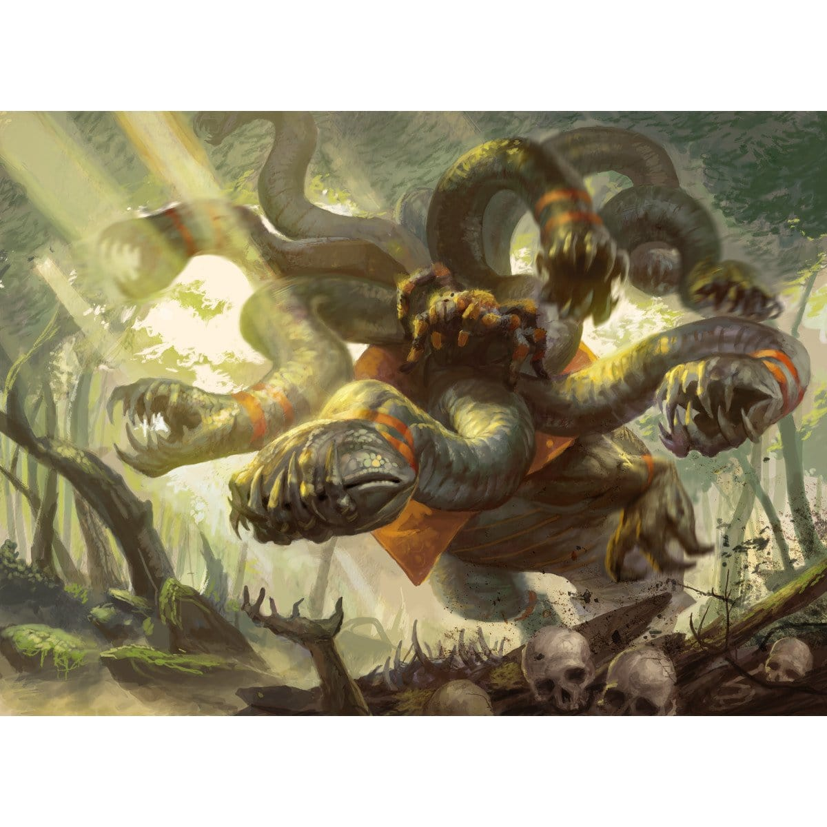 Genesis Hydra Print - Print - Original Magic Art - Accessories for Magic the Gathering and other card games