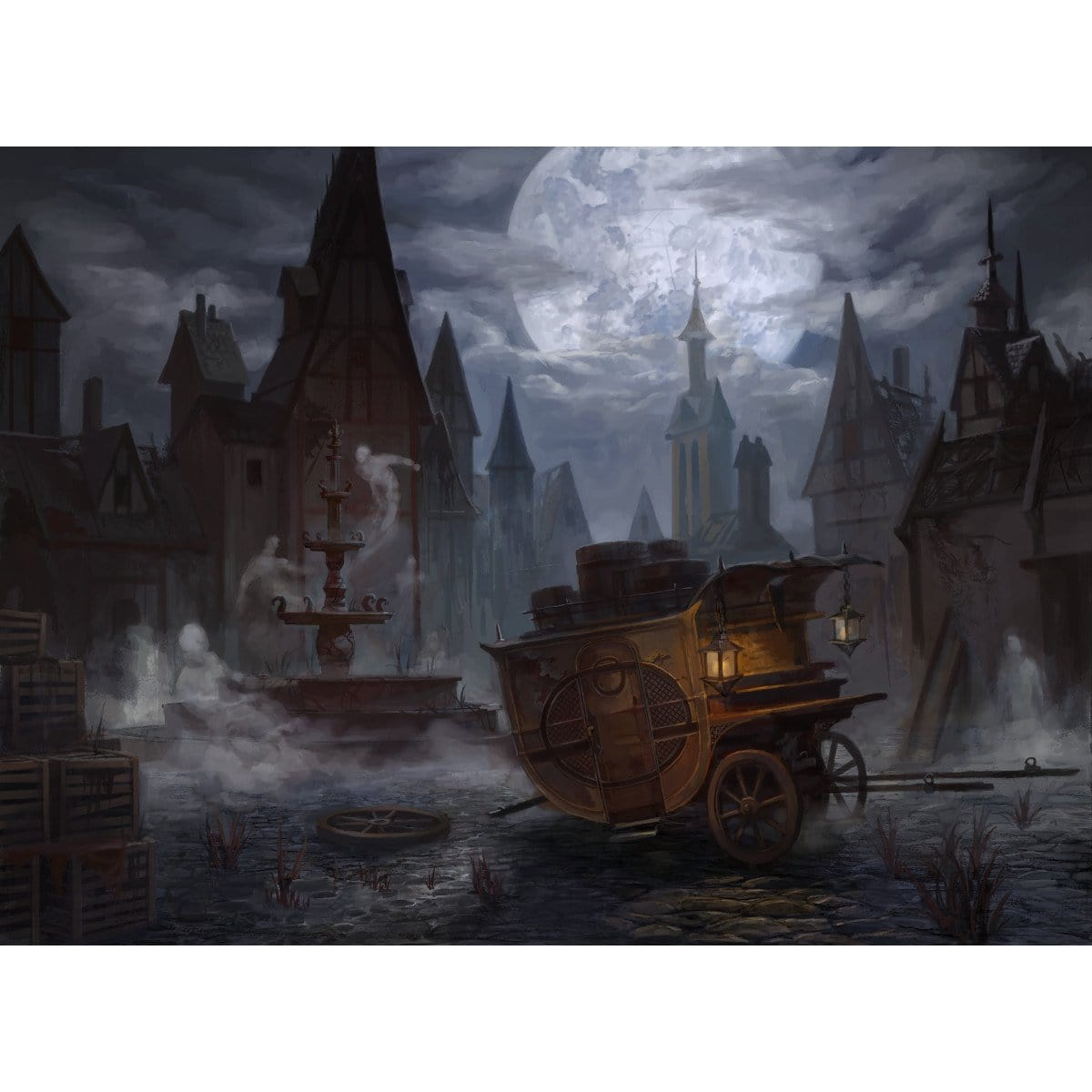 Ghost Quarter Print - Print - Original Magic Art - Accessories for Magic the Gathering and other card games
