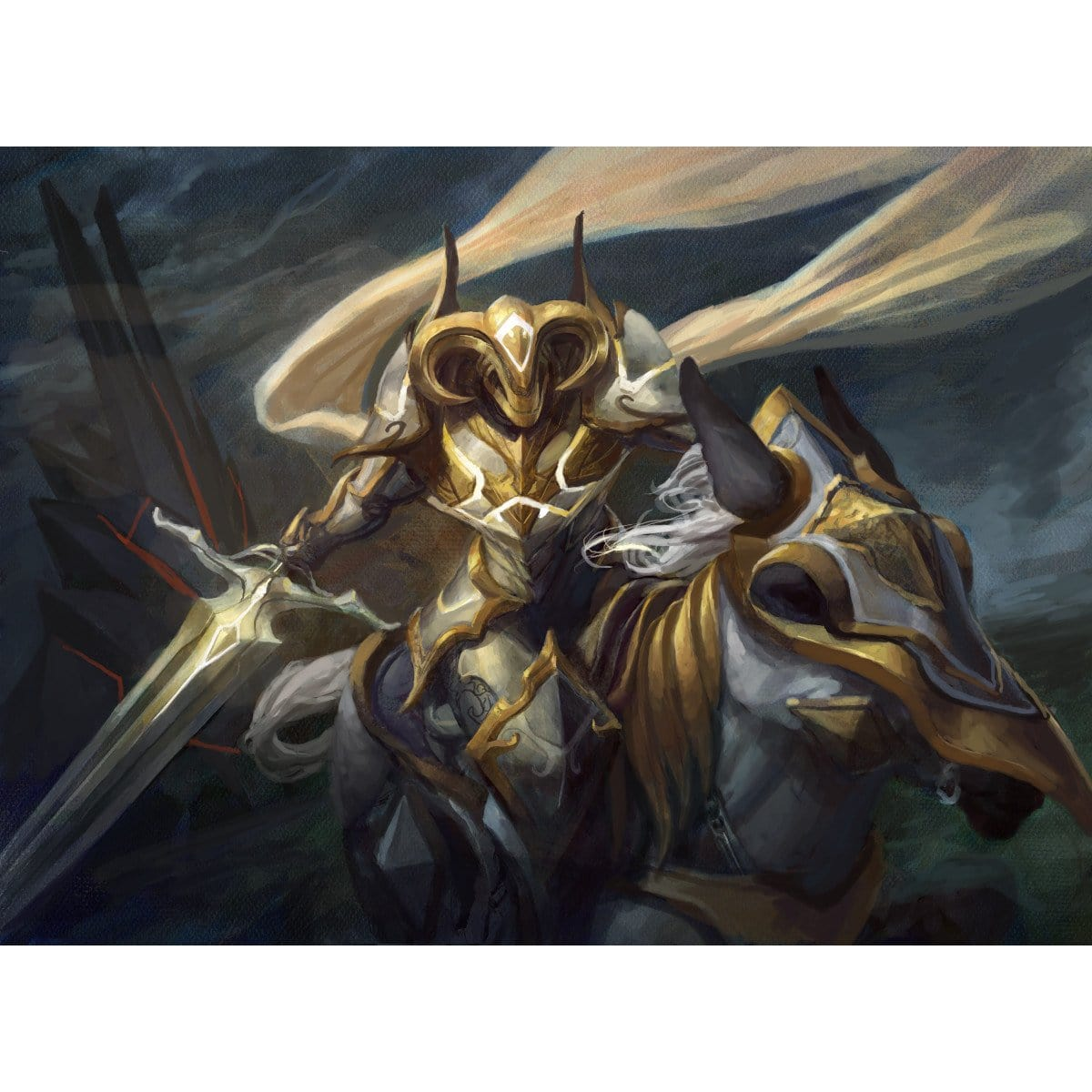 Knight of Glory Print - Print - Original Magic Art - Accessories for Magic the Gathering and other card games