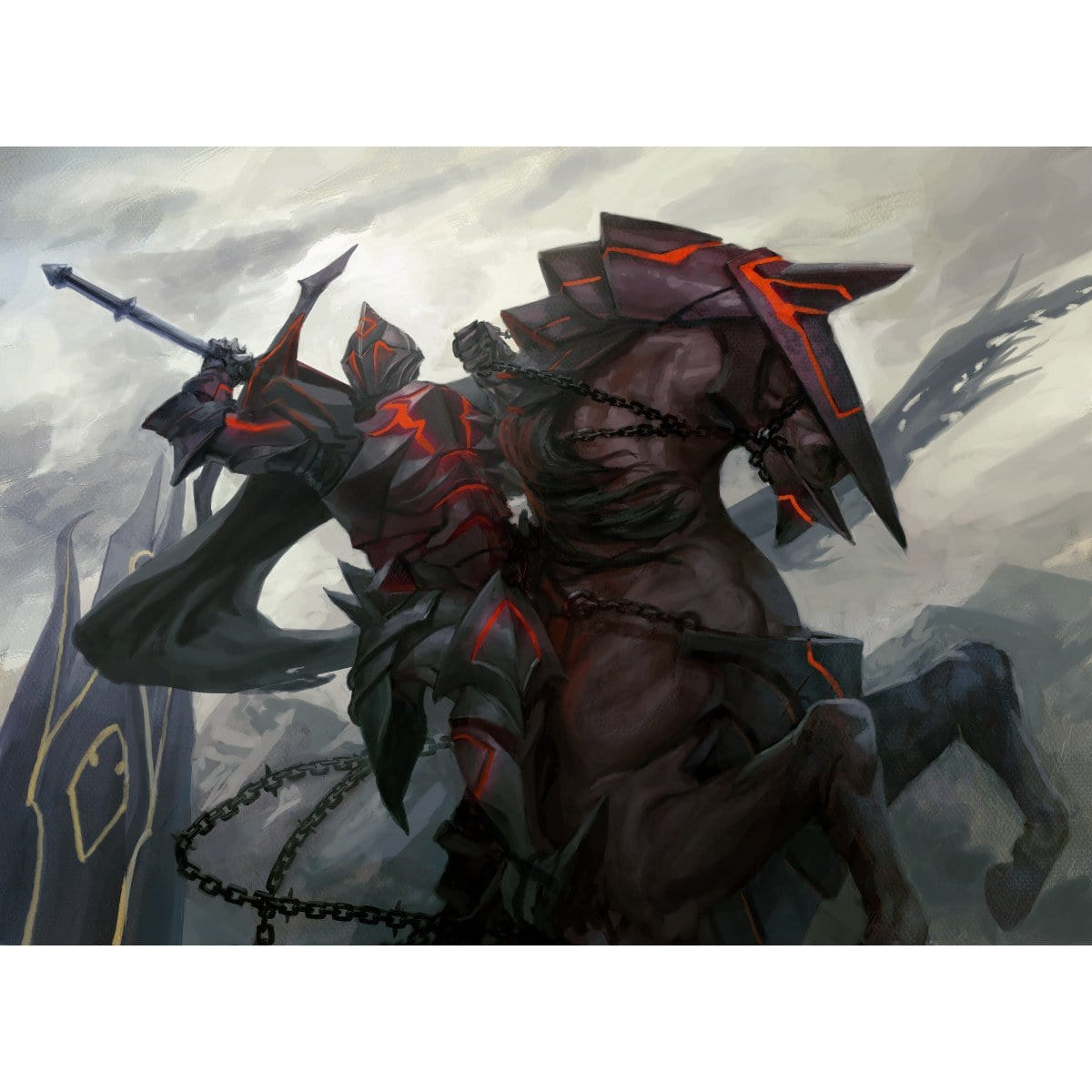 Knight of Infamy Print - Print - Original Magic Art - Accessories for Magic the Gathering and other card games