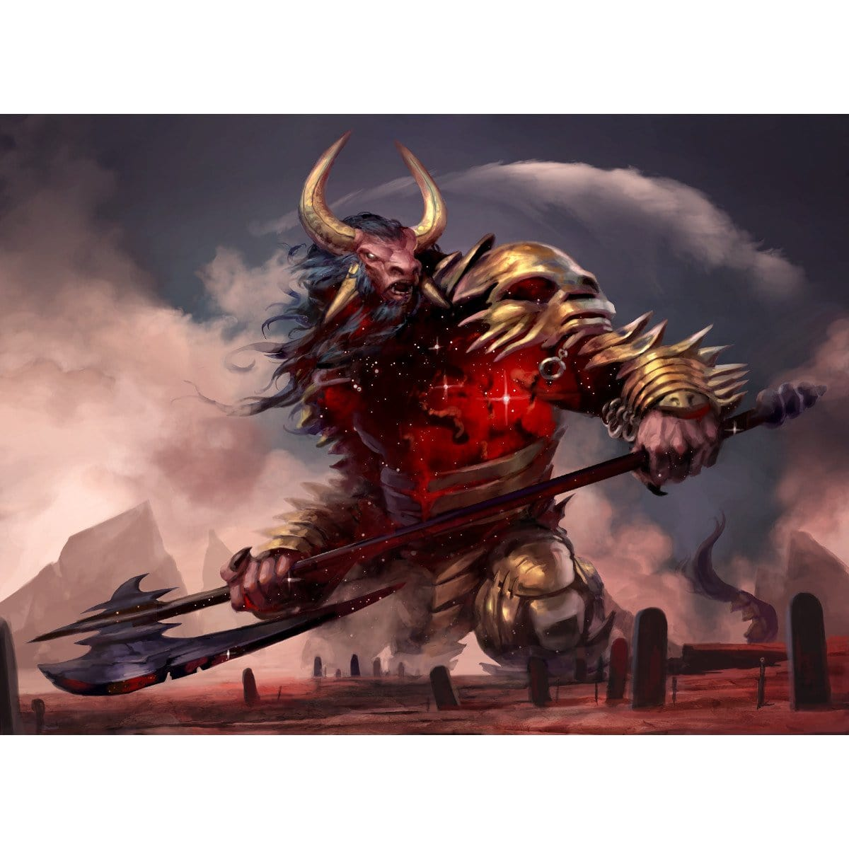 Mogis, God of Slaughter Print - Print - Original Magic Art - Accessories for Magic the Gathering and other card games