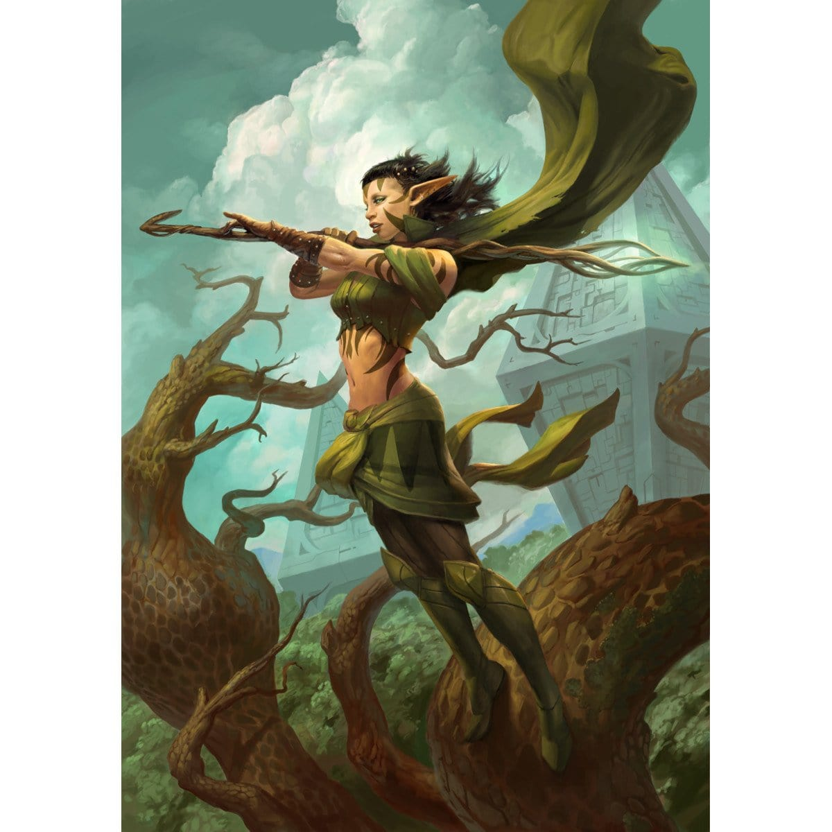 Nissa, Worldwaker Print - Print - Original Magic Art - Accessories for Magic the Gathering and other card games
