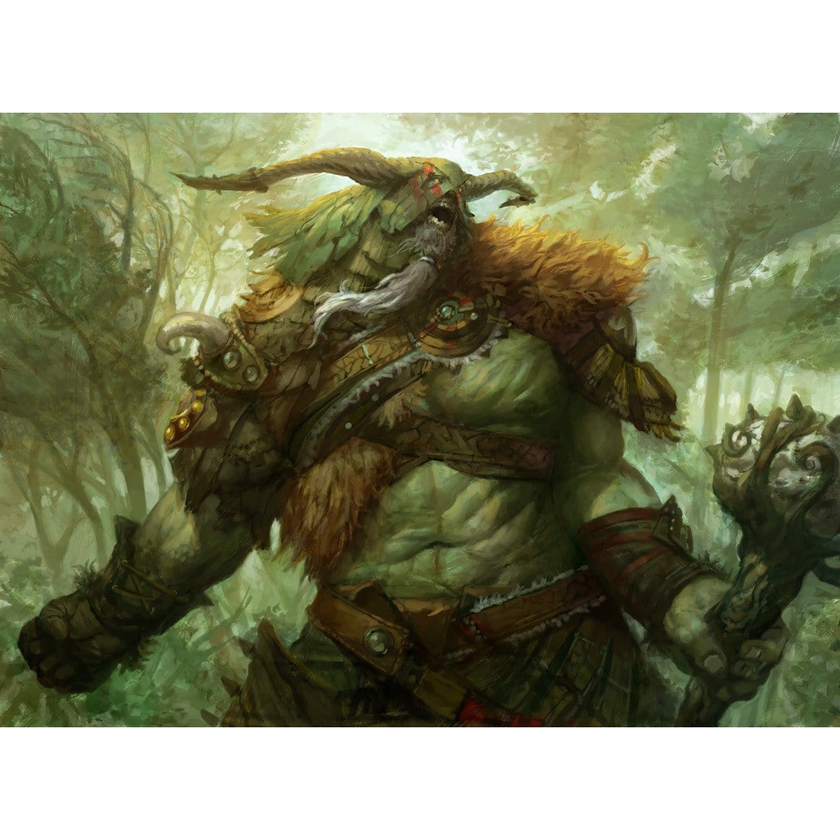 Primeval Titan Print - Print - Original Magic Art - Accessories for Magic the Gathering and other card games
