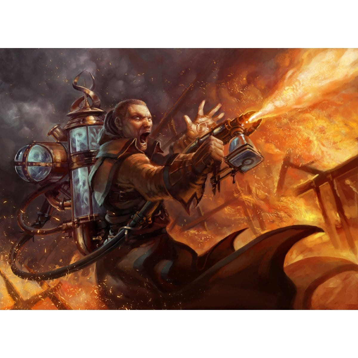 Rage Thrower Print - Print - Original Magic Art - Accessories for Magic the Gathering and other card games