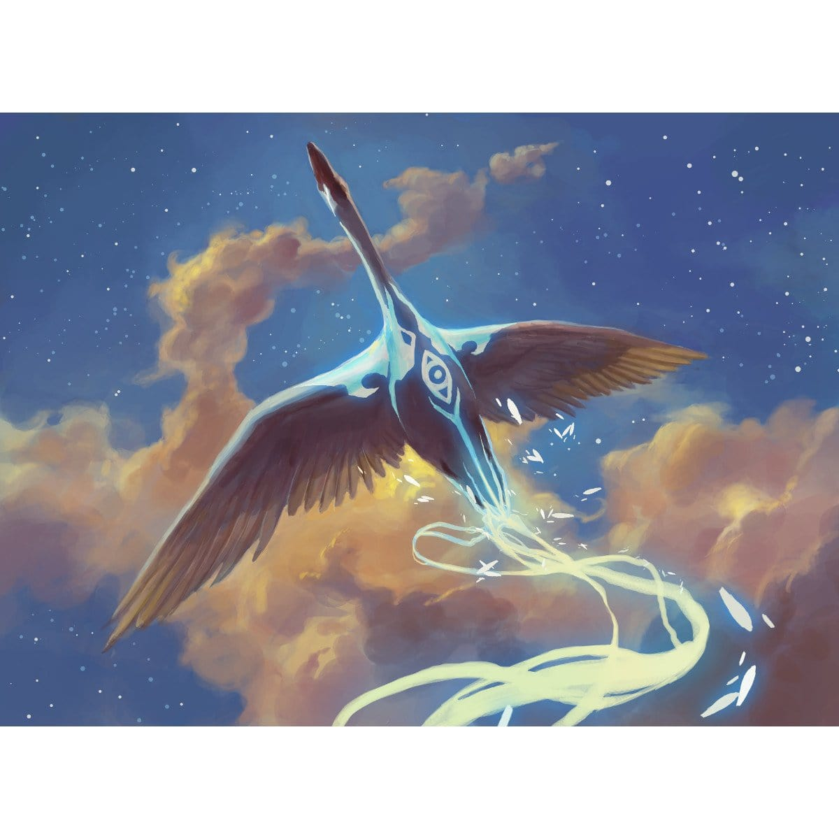 Swan Song Print - Print - Original Magic Art - Accessories for Magic the Gathering and other card games
