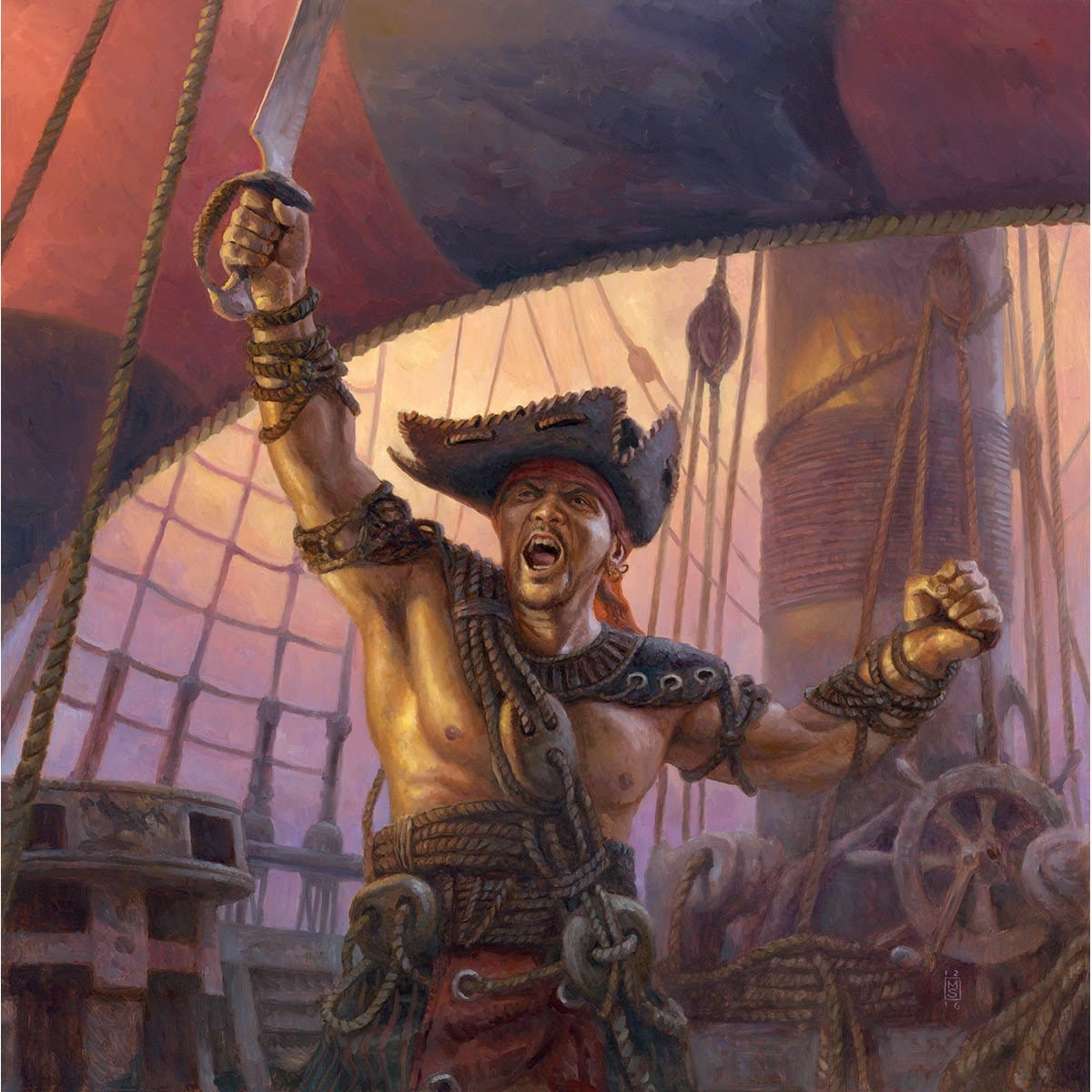 Pirate Token Print - Print - Original Magic Art - Accessories for Magic the Gathering and other card games