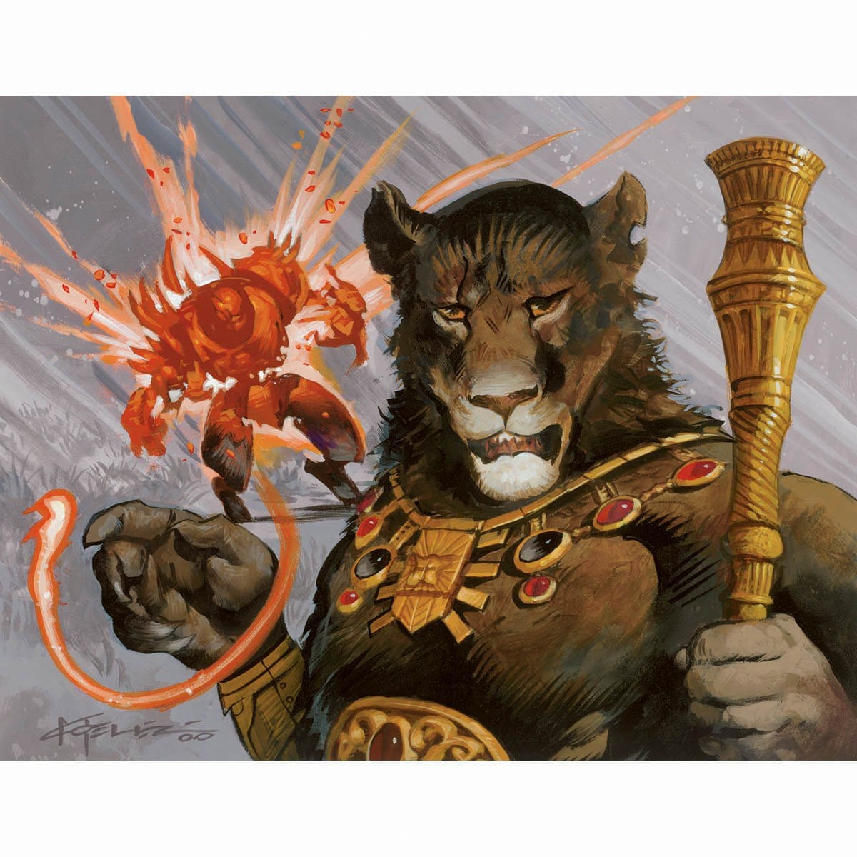 Planeswalker's Fury Print - Print - Original Magic Art - Accessories for Magic the Gathering and other card games