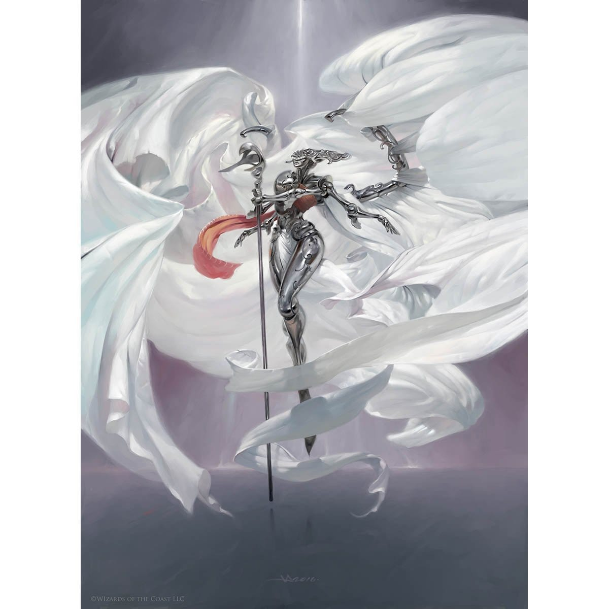Platinum Angel Print - Print - Original Magic Art - Accessories for Magic the Gathering and other card games