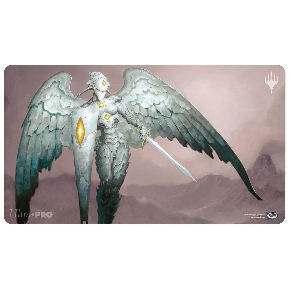 Platinum Angel Playmat - Playmat - Original Magic Art - Accessories for Magic the Gathering and other card games