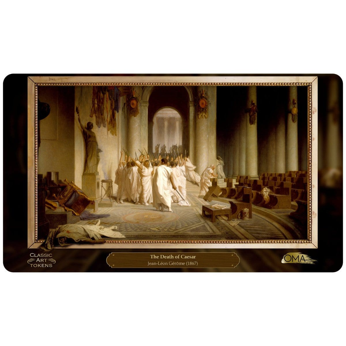 Assassin Playmat by Jean-Léon Gérôme - Playmat - Original Magic Art - Accessories for Magic the Gathering and other card games