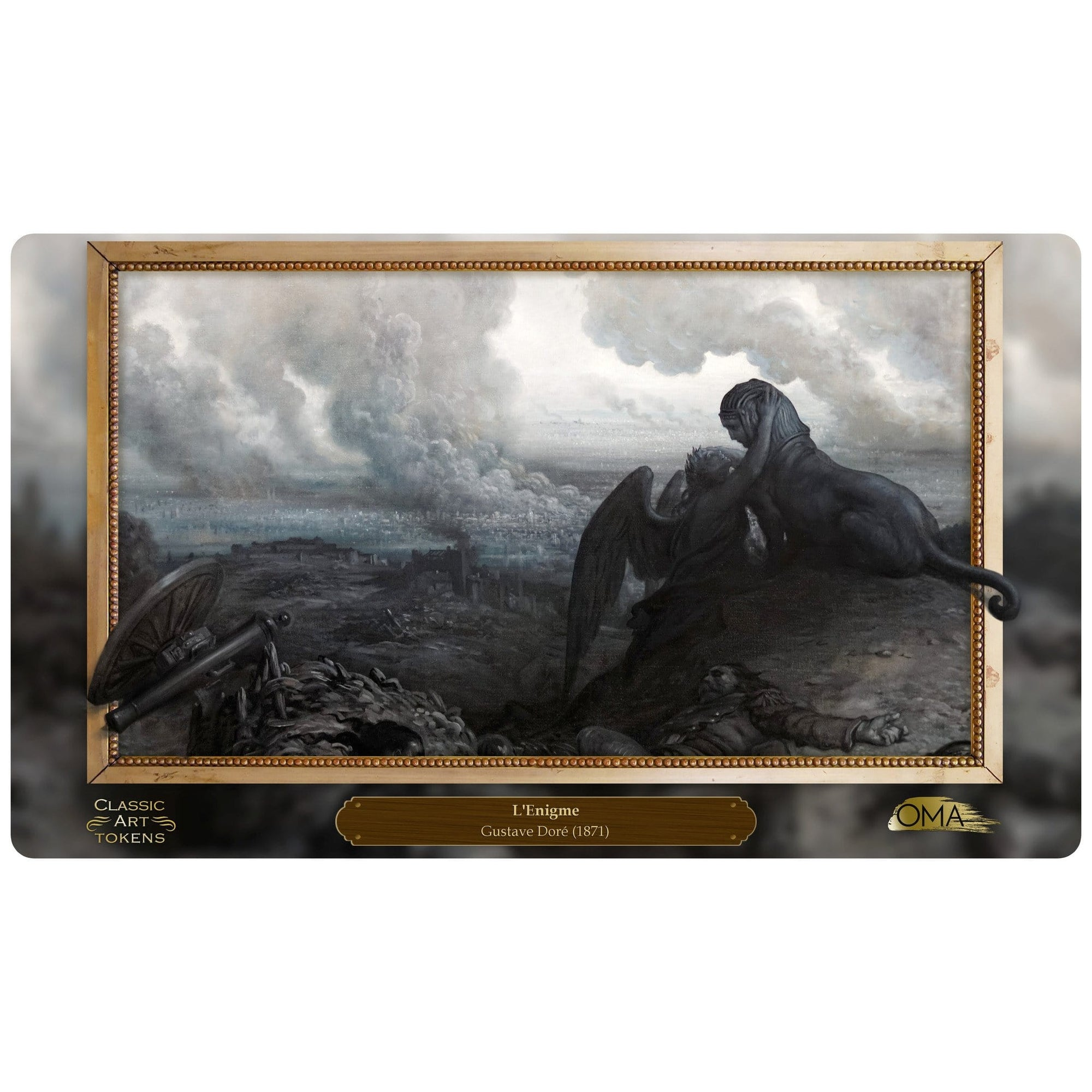 Carnage Playmat by Gustave Doré - Playmat - Original Magic Art - Accessories for Magic the Gathering and other card games
