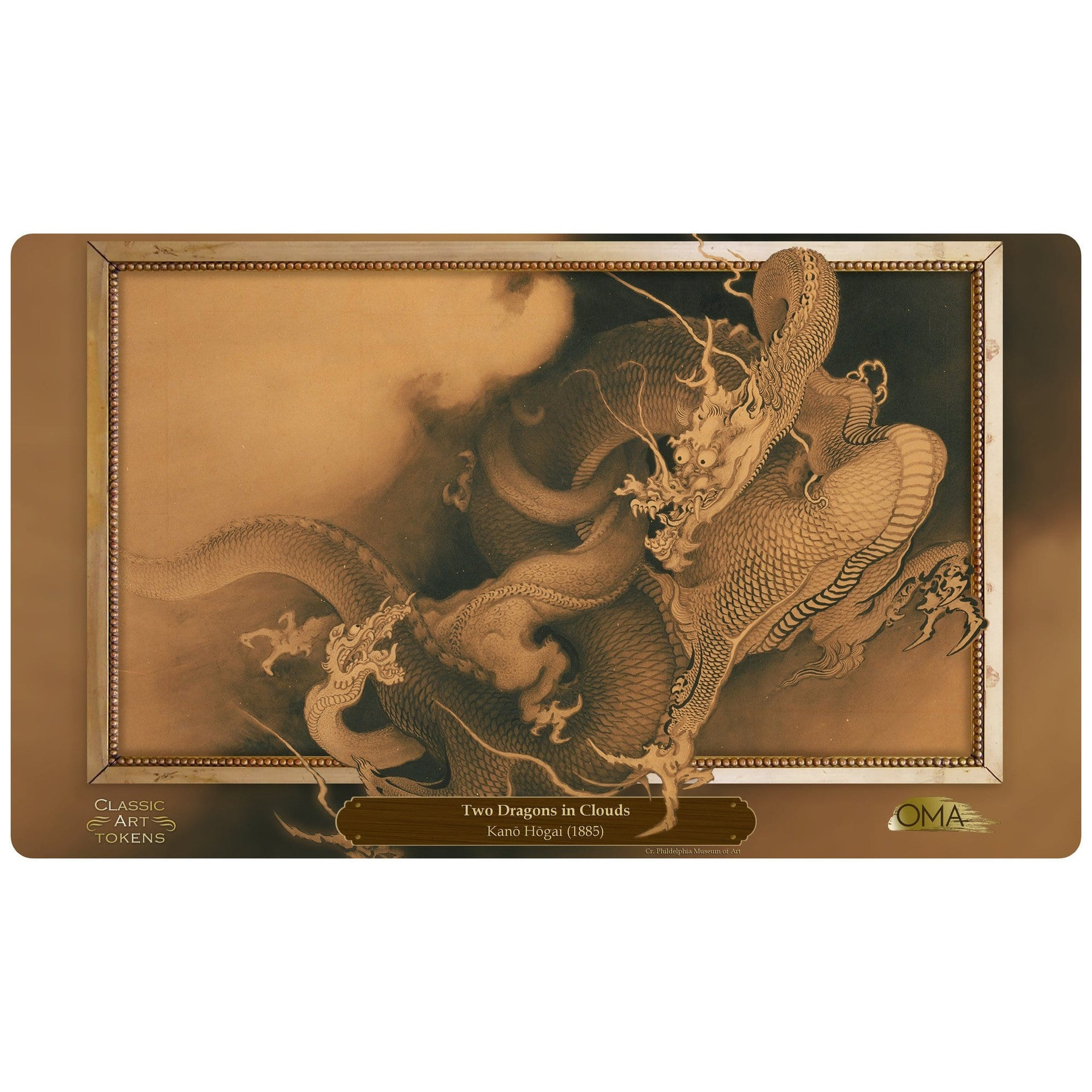 Dragon Playmat by Kanō Hōgai - Playmat - Original Magic Art - Accessories for Magic the Gathering and other card games