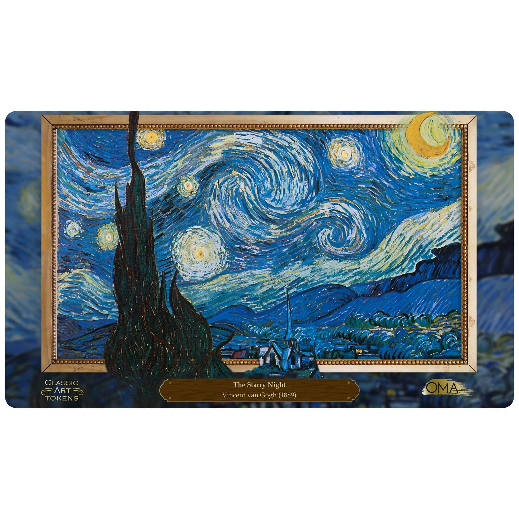 Emblem Playmat by Vincent van Gogh - Playmat - Original Magic Art - Accessories for Magic the Gathering and other card games
