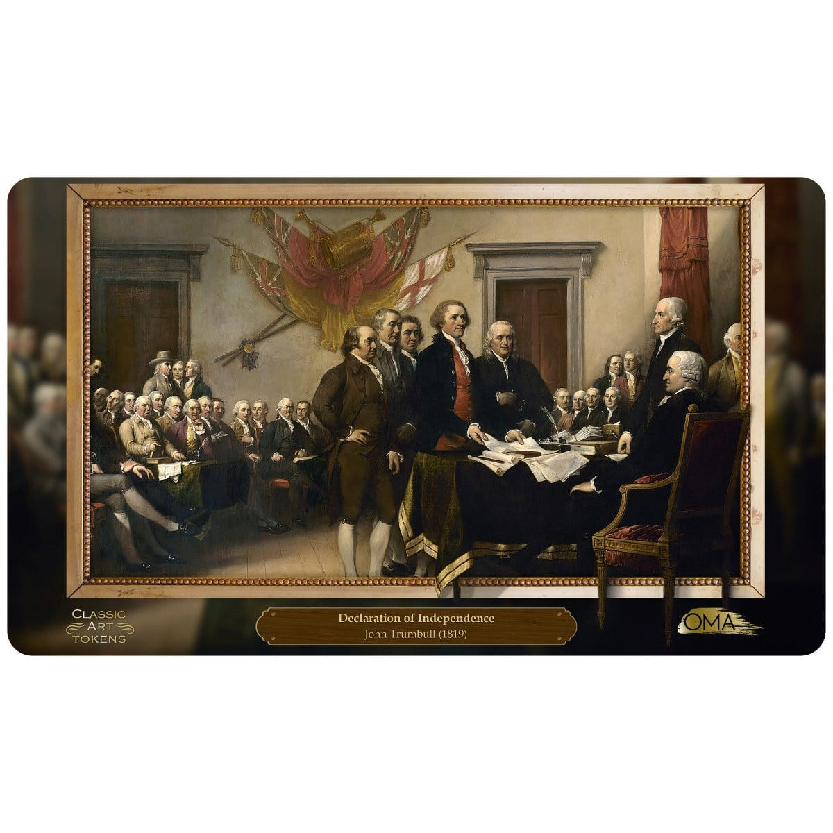 Freedom Playmat by John Trumbull - Playmat - Original Magic Art - Accessories for Magic the Gathering and other card games