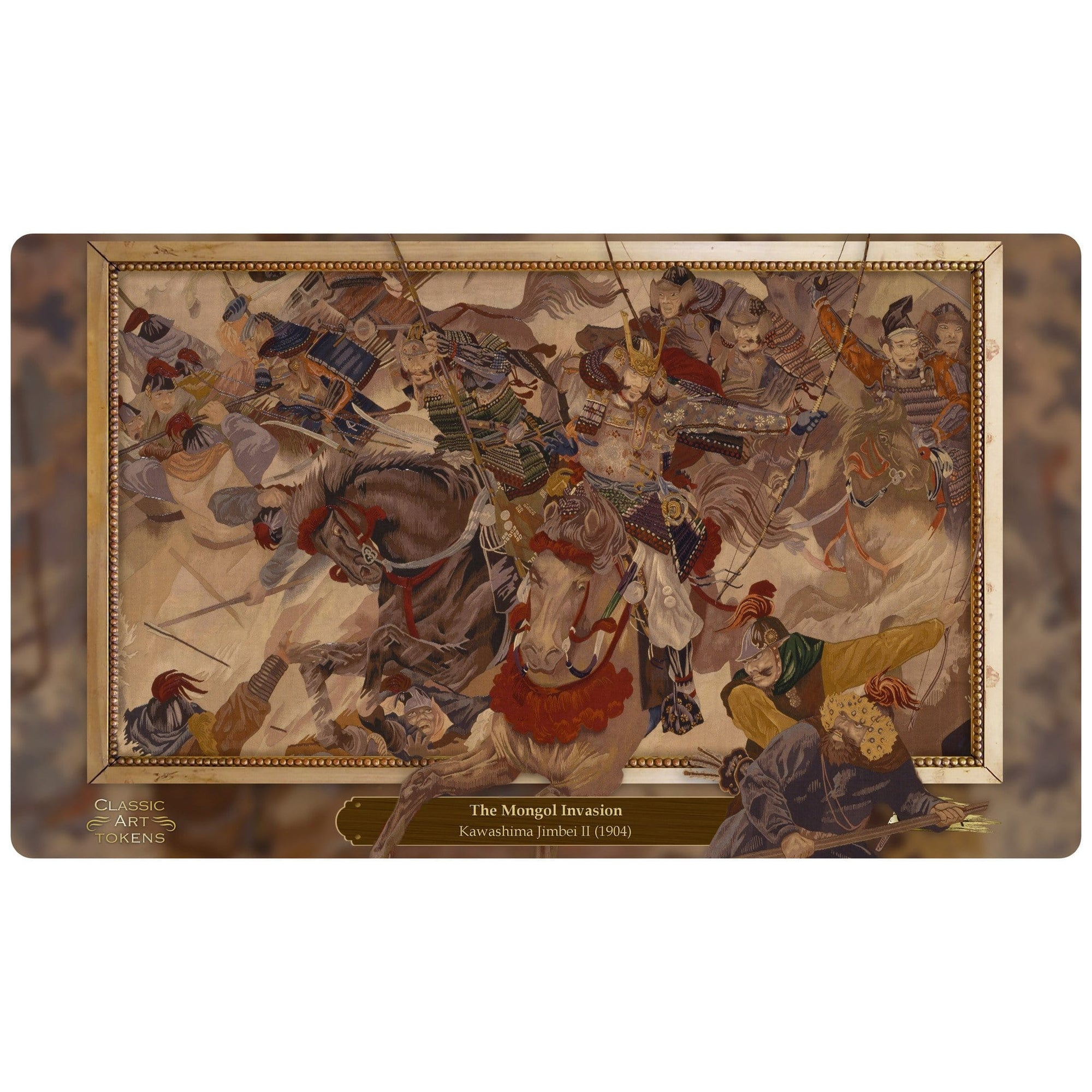 Khans Playmat by Kawashima Jimbei II - Playmat - Original Magic Art - Accessories for Magic the Gathering and other card games