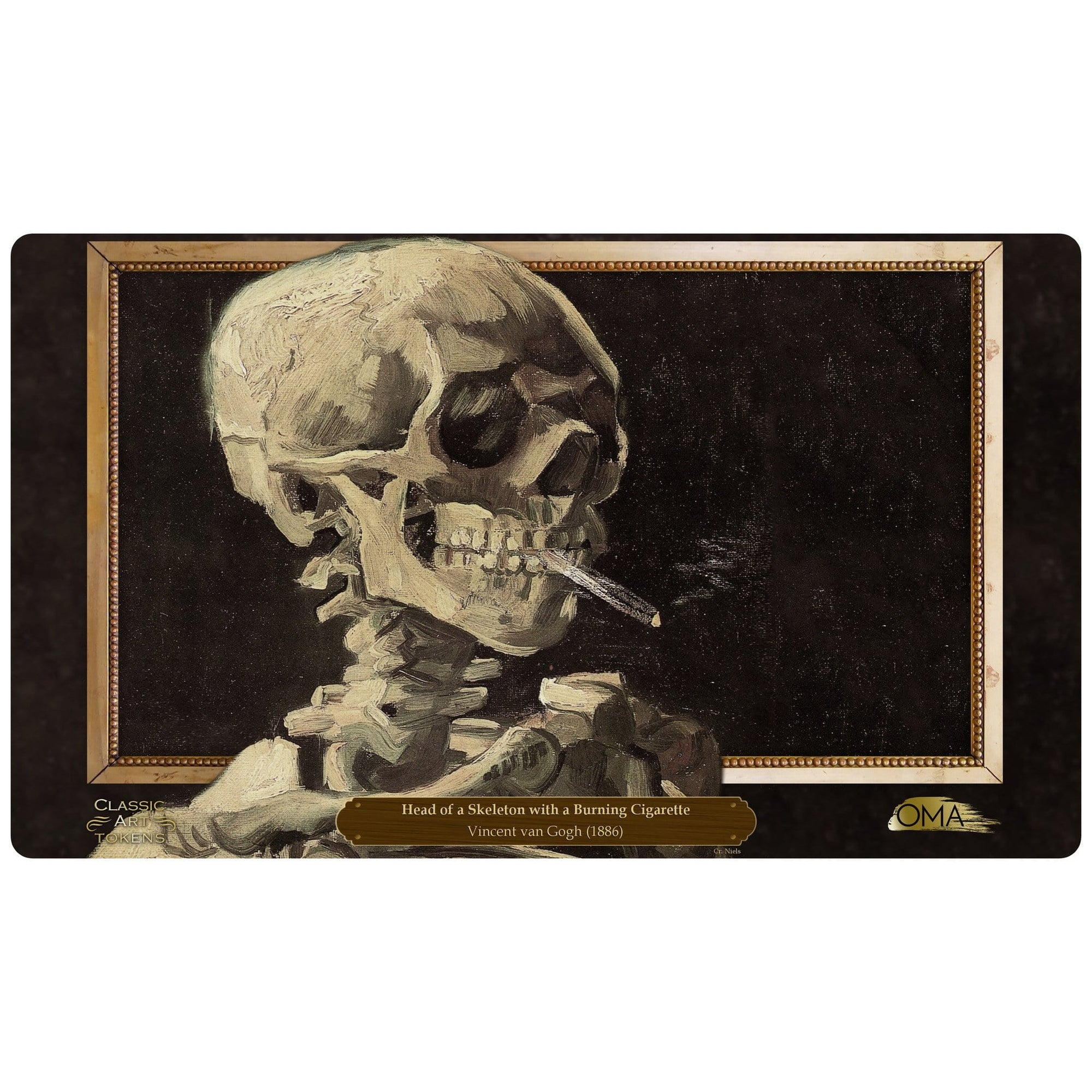 Zombie Playmat by Vincent van Gogh - Playmat - Original Magic Art - Accessories for Magic the Gathering and other card games