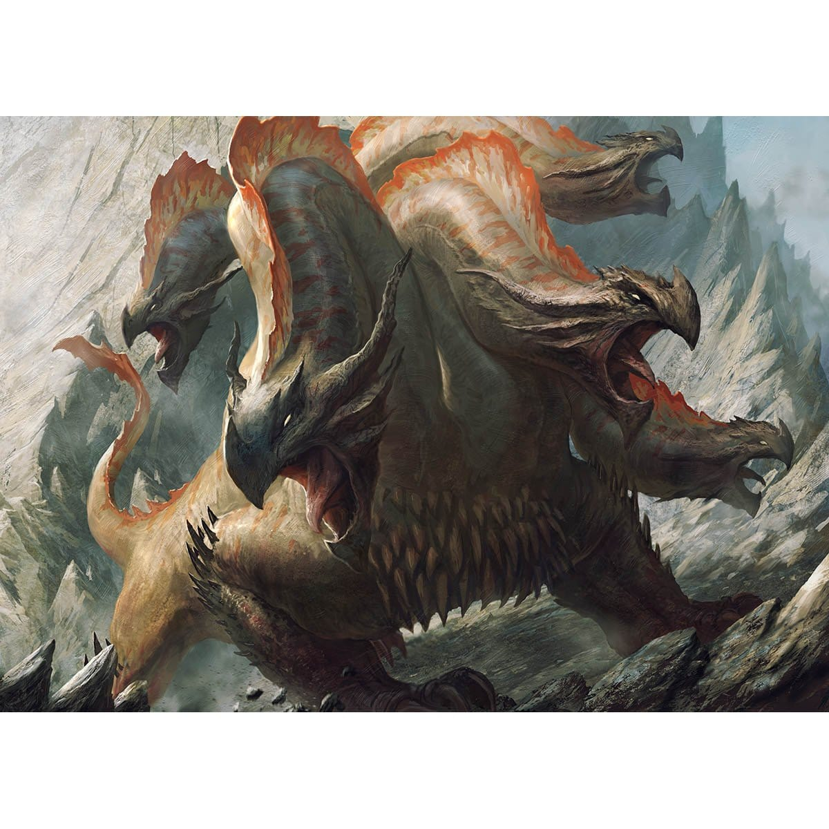 Polukranos, World Eater Print - Print - Original Magic Art - Accessories for Magic the Gathering and other card games