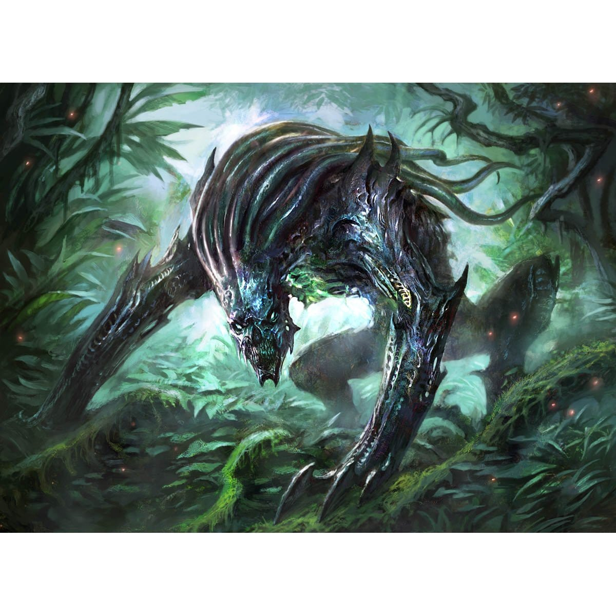 Predatory Sliver Print - Print - Original Magic Art - Accessories for Magic the Gathering and other card games